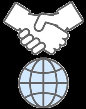 icon shake hands